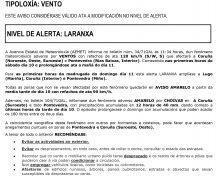 Alerta laranxa por episodio de fenómenos meteorolóxicos adversos para Galicia