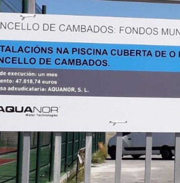 """REMATE DAS OBRAS DE INSTALACIÓNS NA PISCINA MUNICIPAL DE O POMBAL POLA EMPRESA """"AQUANOR AGUAS DEL NOROESTE, S.L."""""""