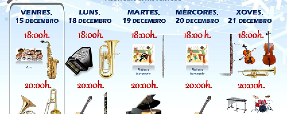 Audicións de Nadal da Escola de Música e do Conservatorio