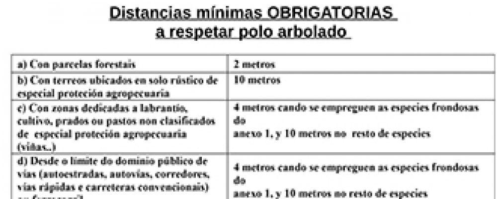 Bando: obrigas relacionadas coas parcelas que dispoñan de arborado ou exista maleza