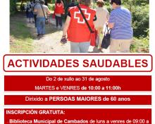 O CONCELLO DE CAMBADOS COLABORA COA CRUZ VERMELLA NAS ANDAINAS SAUDABLES PARA MAIORES DE 60 ANOS