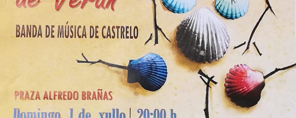 Concerto de verán da banda de música de Castrelo