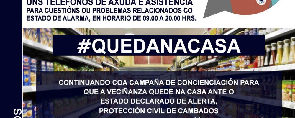 PROTECCION CIVIL E O CONCELLO DE CAMBADOS POÑEN MARCHA UN SERVIZO DE AXUDA PARA AS PERSOAS MAIORES E DE MOBILIDADE REDUCIDA
