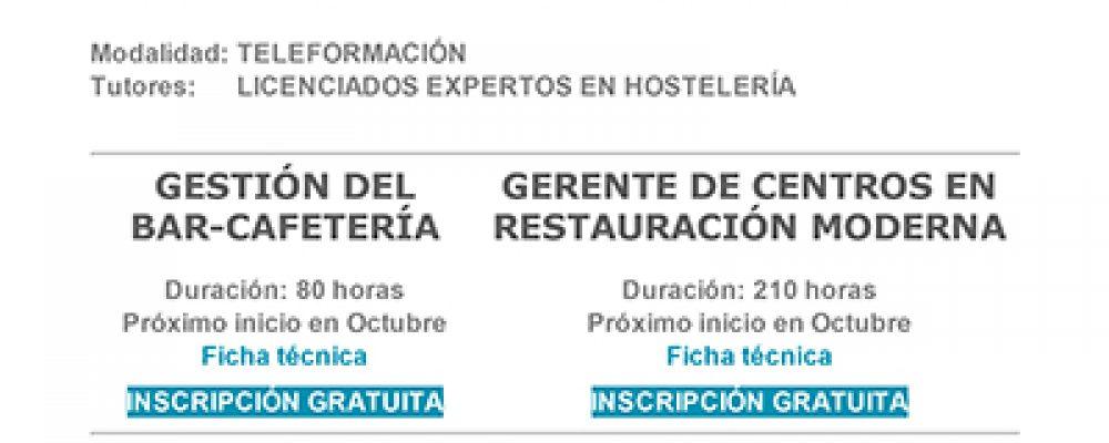 CURSOS ON-LINE DE RESTAURACIÓN E COMERCIO INTERNACIONAL
