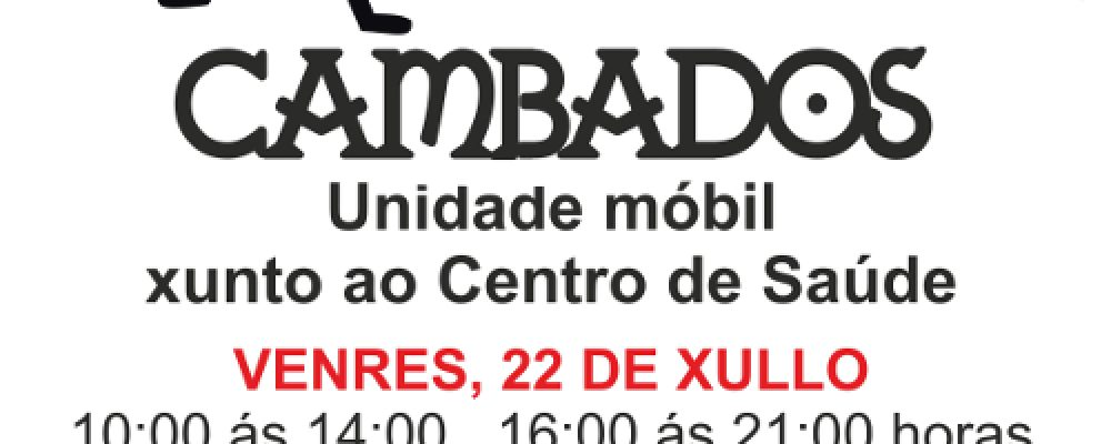 """O CONCELLO DE CAMBADOS COLABORA COA CAMPAÑA SOLIDARIA """"SÚMATE. DOA SANGUE"""""""