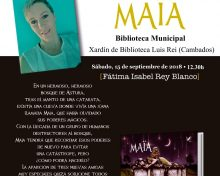 """Presentación do conto """"Maïa"""", de Fátima Rey"""