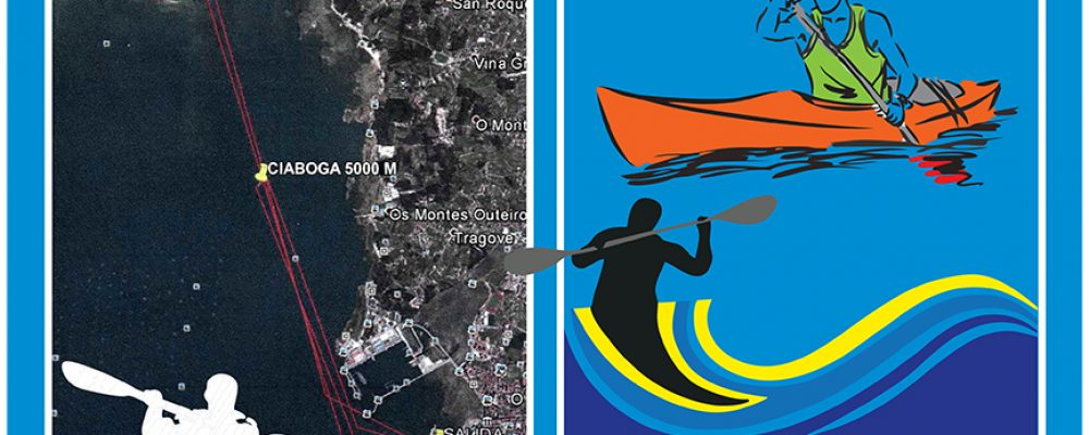 """Regata """"Concello de Cambados"""" de la liga gallega de kayak de mar"""