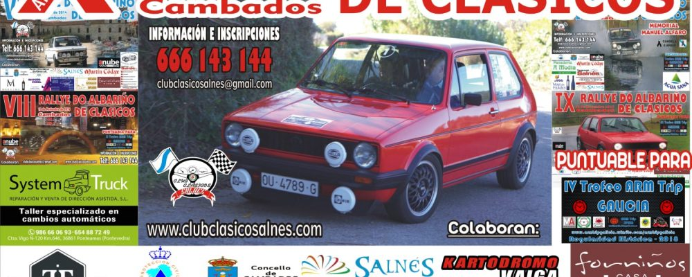 "X RALLYE DO ALBARIÑO DE CLASICOS 2 Y 3 NOVIEMBRE ""CAMBADOS"""