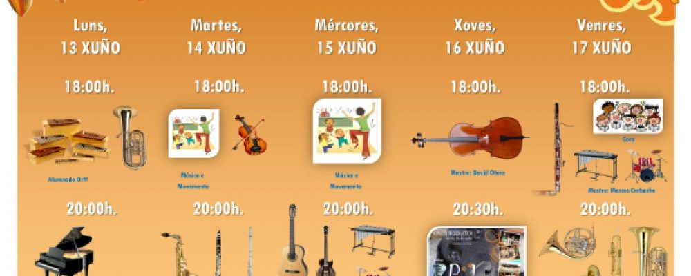 AUDICIÓNS E CONCERTO DE FIN DE CURSO DA ESCOLA DE MÚSICA E O CONSERVATORIO