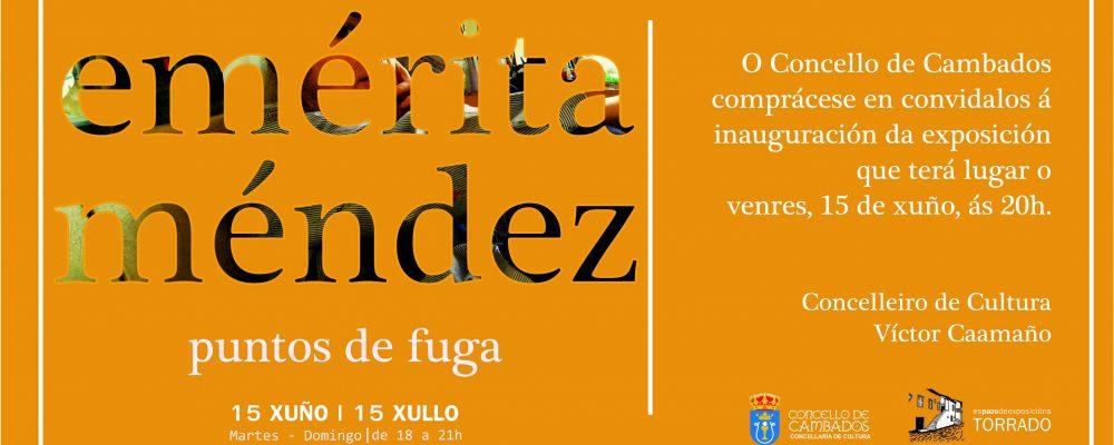 """Exposición """"puntos de fuga"""", de Emérita Méndez"""