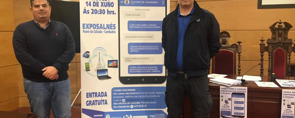 CHARLA EN CAMBADOS SOBRE O CONSUMO RESPONSABLE EN TELEFONÍA E INTERNET.