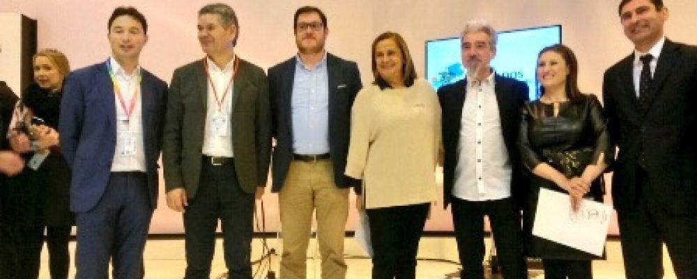 PRESENTACIÓN DE CAMBADOS CIDADE EUROPEA DO VIÑO 2017 NO STAND DE TOURESPAÑA EN FITUR