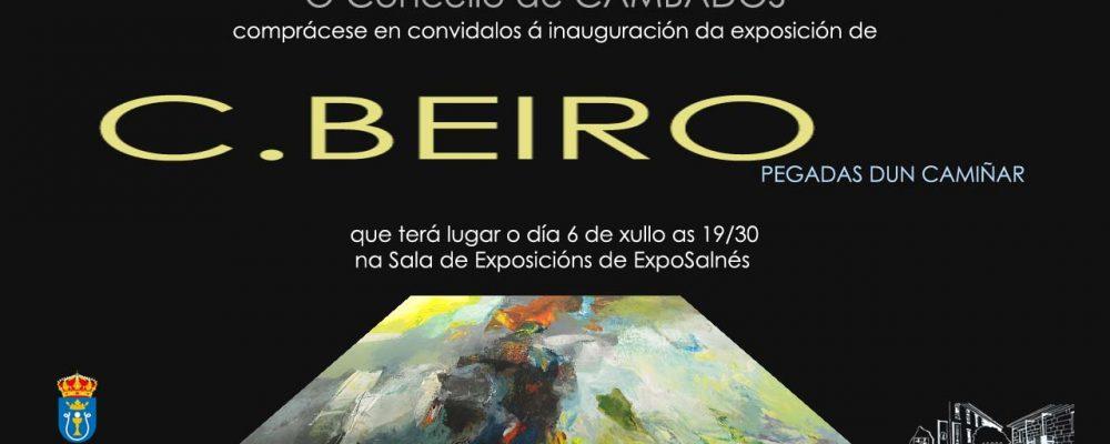 """Inauguración de la exposición de C. Beiro:  """"pegadas dun camiñar"""""""