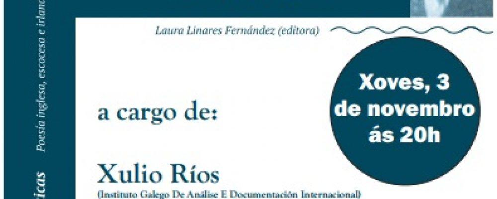 """PRESENTACIÓN DO LIBRO """"VERBAS ATLÁNTICAS"""""""