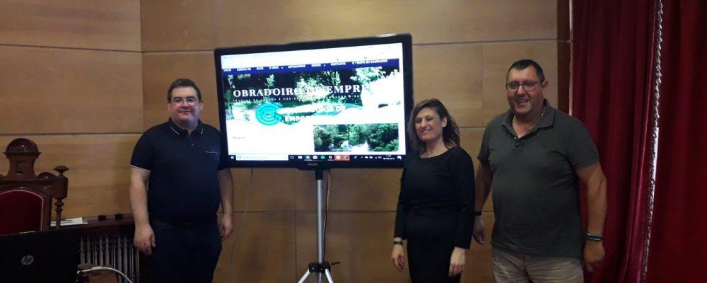 Presentación da páxina web do obradoiro de emprego para a renovación urbana e medioambiental